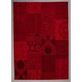 Flachwebeteppich Vintage, 140/200 - Rot, MODERN, Textil (140/200cm)