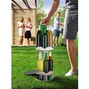 Flaschenkühler Outdoor Easymaxx D: 22 cm - Edelstahlfarben/Weiß, KONVENTIONELL, Kunststoff (22ml)