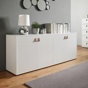 Komoda Mick - bílá, Moderní, dřevo (180/69,5/40cm) - Modern Living
