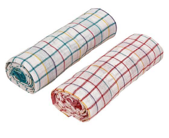 Geschirrtuch Norbert - 10er Pack - Gelb/Rot, KONVENTIONELL, Textil (50/70cm)
