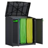 Müllsackständer Moby Recycling ca. 90/100/55cm - Anthrazit, MODERN, Kunststoff (90/100/55cm) - Keter