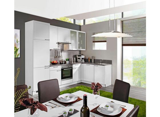 Eckküche Home 285x175 cm Weiß/Eiche Dunkel - Weiß, Holzwerkstoff (285/175cm) - Express
