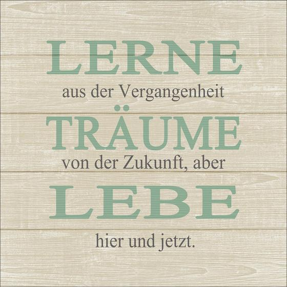 Keilrahmenbild Lebenstraum II - Naturfarben/Grün, Holz/Holzwerkstoff (40/40/2cm)