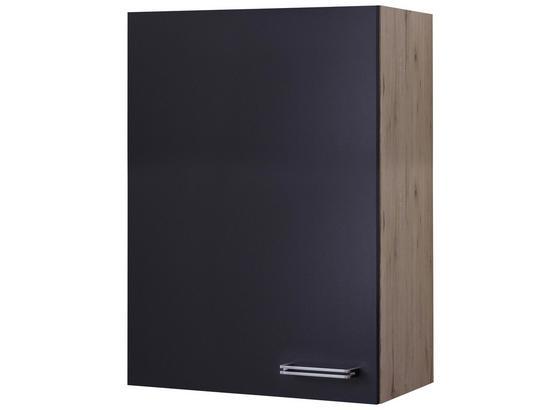 Kuchyňská Horní Skříňka Milano - barvy dubu/antracitová, Moderní, kompozitní dřevo (60/89/32cm)