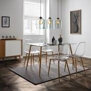 Jedálenská Stolička Vinnie - hnedá/transparentné, Moderný, umelá hmota/kov (47/83,5/52cm) - Modern Living