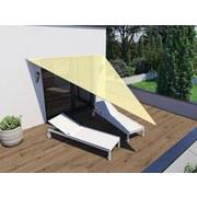 Sonnensegel Dreieck 4x4x3 M - Creme, MODERN, Textil (300/400cm)