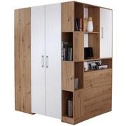 Eckschrank Box B:150cm Artisan Eiche/Weiß Dekor - Eichefarben/Weiß, MODERN, Holzwerkstoff (150/205/120cm) - Ombra