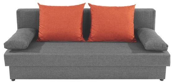 Kanapéágy Neo - narancs/sötétszürke, modern, textil (190/75/82cm)