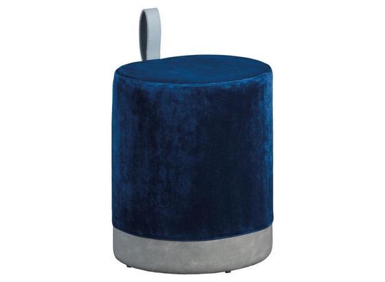 Hocker Osane B: 38 cm Blau/Grau - Blau/Grau, Basics, Holzwerkstoff/Kunststoff (38/43/32,5cm) - Livetastic