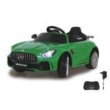 Kinderauto Ride-On Mercedes-Amg Gt R Grün - Silberfarben/Schwarz, Basics, Kunststoff (104,5/56/42,5cm)
