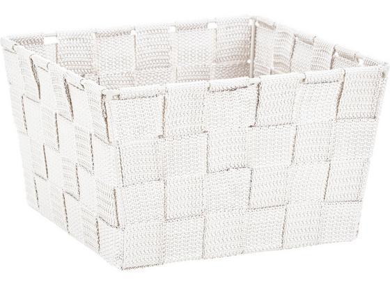 Koš Nelly - bílá, Moderní, textil (19/19/11cm) - Mömax modern living