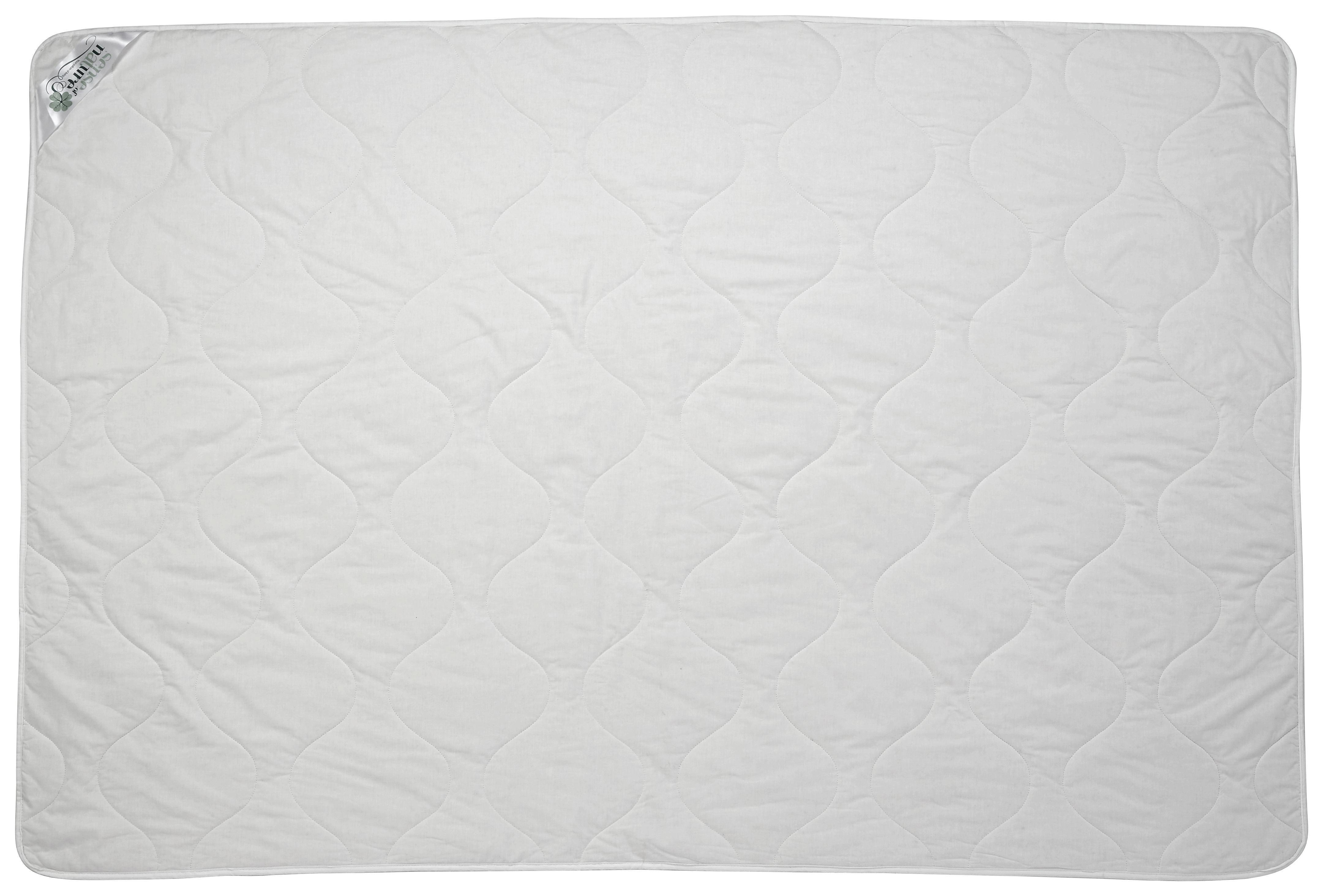 Einziehdecke Bio Baumwolle - Weiß, KONVENTIONELL, Textil (140/200cm)