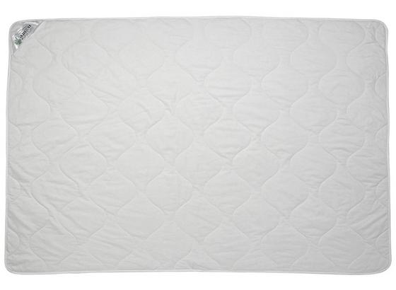 Steppdecke Bio-baumwolle 140x200 cm - Weiß, KONVENTIONELL, Textil (140/200cm)