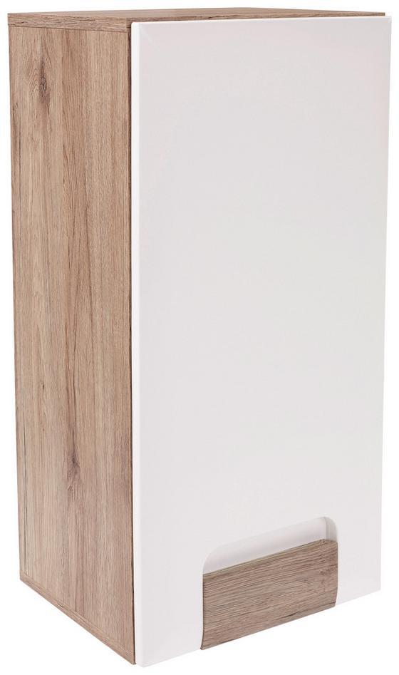Hängeschrank Toronto - Eichefarben/Alufarben, MODERN, Holzwerkstoff (40/79/20cm) - Ombra