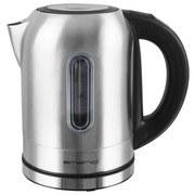 Wasserkocher Emerio Wk-108054 - Alufarben/Schwarz, MODERN, Kunststoff/Metall (19,5/19,8/16cm)