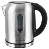 Wasserkocher Emerio Wk-108054 - Schwarz/Alufarben, MODERN, Kunststoff/Metall (19,5/19,8/16cm)