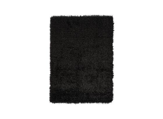 Hochflorteppich Glossy - Schwarz, Basics, Textil (80/150cm) - Luca Bessoni