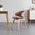Jedálenská Stolička Nora - ružová/farby buku, Moderný, drevo/textil (52/78/55cm) - Modern Living