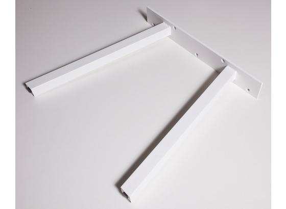 Tischgestell Tischuntergestell B: 70 cm - Weiß, Basics, Metall (70/71cm)