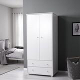 Skříň Milo - bílá, Moderní, dřevo (80/178/55cm) - Modern Living