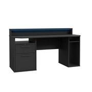 Gaming Tisch Tezaur 160 cm - Schwarz, Basics, Holzwerkstoff/Kunststoff (160/91/72cm) - MID.YOU
