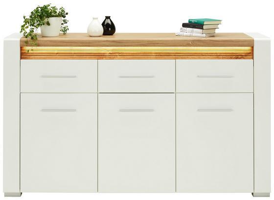 Komoda Sideboard Leonardo - farby dubu/biela, Moderný, kompozitné drevo (160/96,5/40cm) - Modern Living