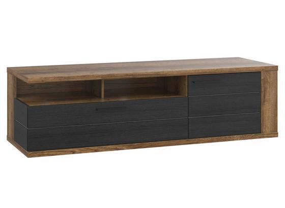 Tv Díl Lacjum - barvy dubu, Moderní, kov/kompozitní dřevo (161,5/46,7/52,3cm)