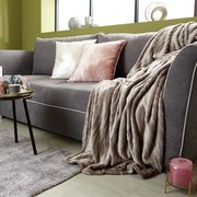 Decke Milo - Silberfarben, ROMANTIK / LANDHAUS, Textil (180/220cm) - James Wood