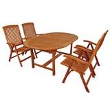Gartentischgruppe Sun Flair - Braun, Basics, Holz - Ambia Garden