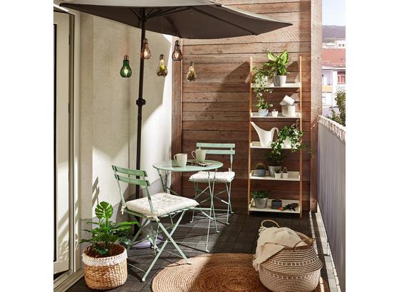 Sada Na Balkon Nice - zelená, kov - Mömax modern living