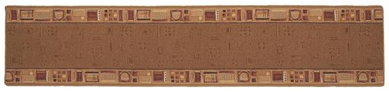 Läufer Vitali - Beige, KONVENTIONELL, Textil (67/300cm) - Ombra