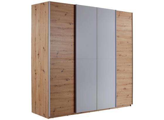 Schwebetürenschrank 270cm Beluga, Artisan Eiche Dekor - Eichefarben/Hellgrau, KONVENTIONELL, Holzwerkstoff (270/226/61cm)