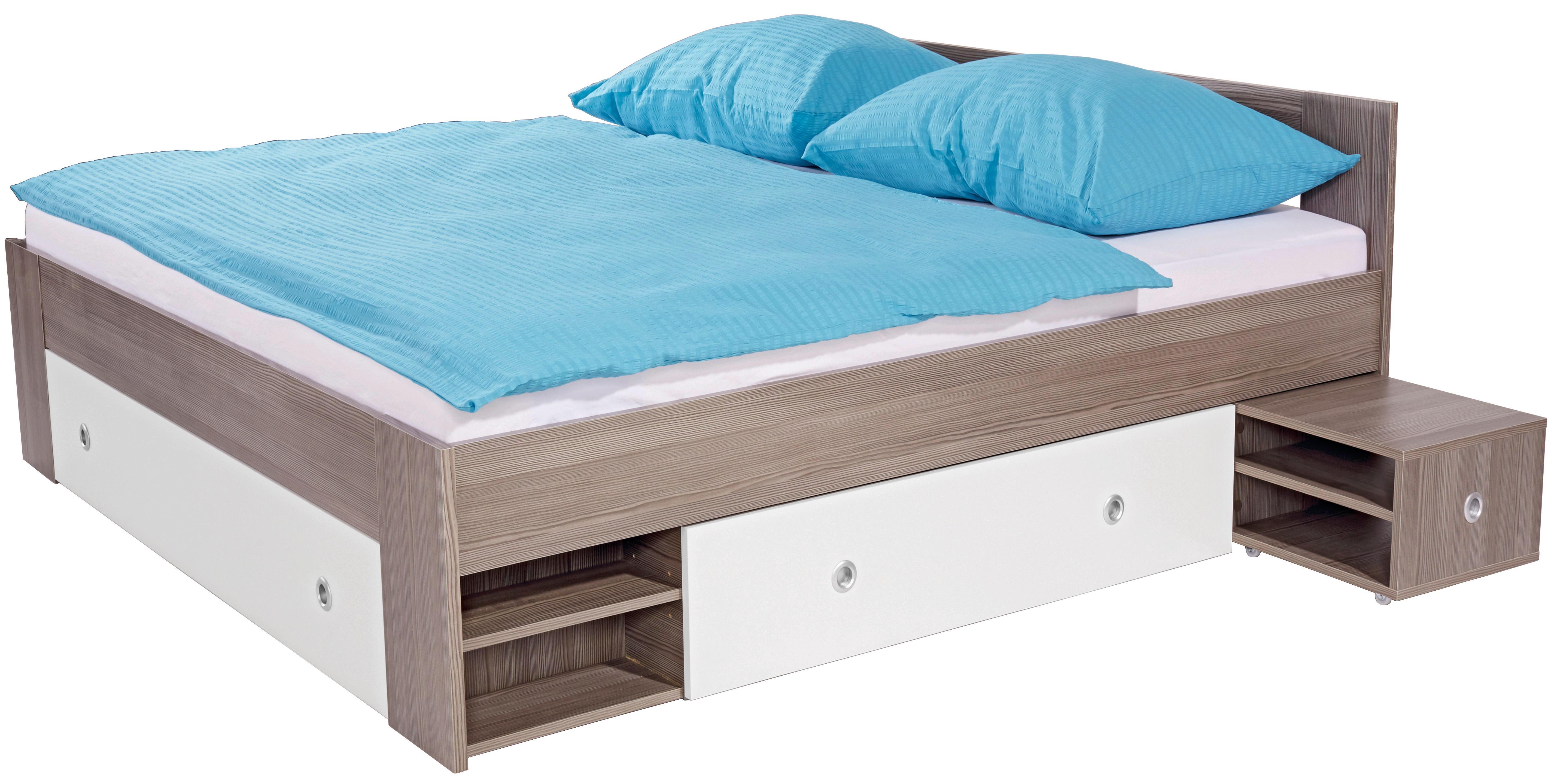 Ágykeret Azurro - fehér, modern, faanyagok (180/200cm)