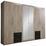 Drehtürenschrank mit Spiegel 270cm Fly, Eiche Dekor - Eichefarben/Braun, Design, Glas/Holzwerkstoff (270/210/58cm) - Carryhome