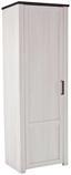 Šatní Skříň Provence - bílá/barvy wenge, Moderní, kompozitní dřevo (71/200/42cm) - James Wood
