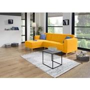 Wohnlandschaft in L-Form Geneve 144x217 cm - Gelb/Naturfarben, MODERN, Textil (144/217cm)