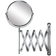 Kosmetikspiegel Move Mirror - Chromfarben/Silberfarben, MODERN, Glas/Metall (17cm) - Kleine Wolke