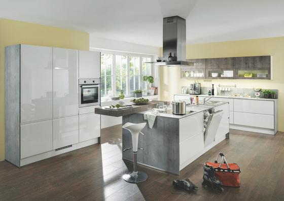 Kuchyně Na Míru Panama - bílá, Moderní, dřevěný materiál - Vertico