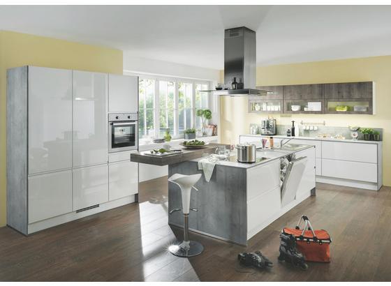 Kuchyně Na Míru Panama - bílá, Moderní, kompozitní dřevo - Vertico
