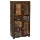 Mehrzweckschrank Lissabon B: 90 cm Altholz - Multicolor/Naturfarben, Basics, Holz (90/190/40cm)