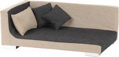 Hundesofa L: 87 cm Anthrazit - Sandfarben/Anthrazit, KONVENTIONELL, Holz/Textil (87/57/33cm)