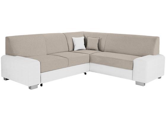 Sedacia Súprava Miami - biela/béžová, Basics, drevo/textil (260/210cm) - Ombra