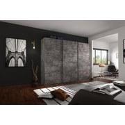 Schwebetürenschrank Belluno B:271cm Stone Grey Dekor - Grau, MODERN, Holzwerkstoff (271/230/62cm)
