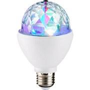 Dekorační Žárovka 08035 Disco - bílá/čiré, kov/umělá hmota (8/8/13cm)