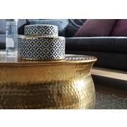 Couchtisch Rund Orient-Style Karam, Goldfarben - Goldfarben, LIFESTYLE, Metall (75/75/31cm) - Livetastic