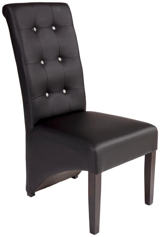 Szék Marilyn - fekete/wenge színű, konvencionális, textil/fa (47/105/66cm)