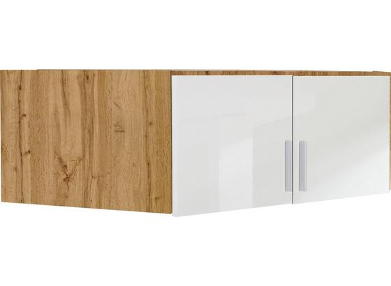 Nástavec Na Skříň K Rohové Skříni, Dub Wotan - bílá/barvy dubu, Moderní, kompozitní dřevo (117/39/117cm)
