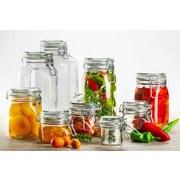 Einmachglas-Set 6-Tlg Gothika - Transparent, Basics, Glas (12,8/24,7cm)