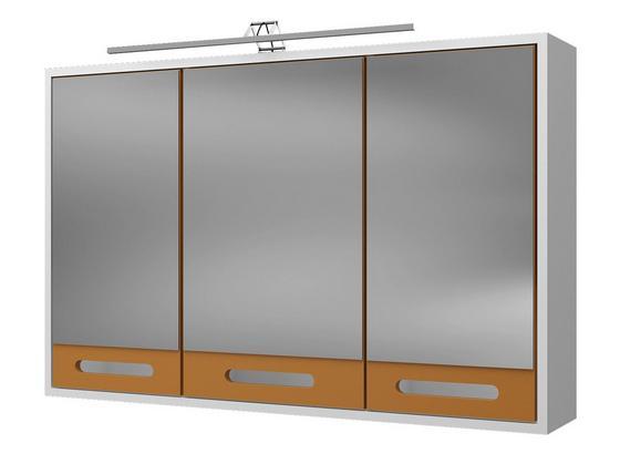 Spiegelschrank Malmö 100 cm Weiß - Currygelb/Weiß, Basics, Holzwerkstoff (100/64/20cm)