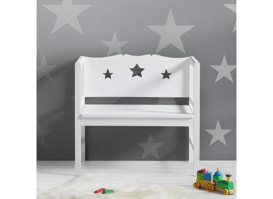 Dětská Lavice Jason - bílá, Moderní, dřevo (80/90/43cm) - Mömax modern living